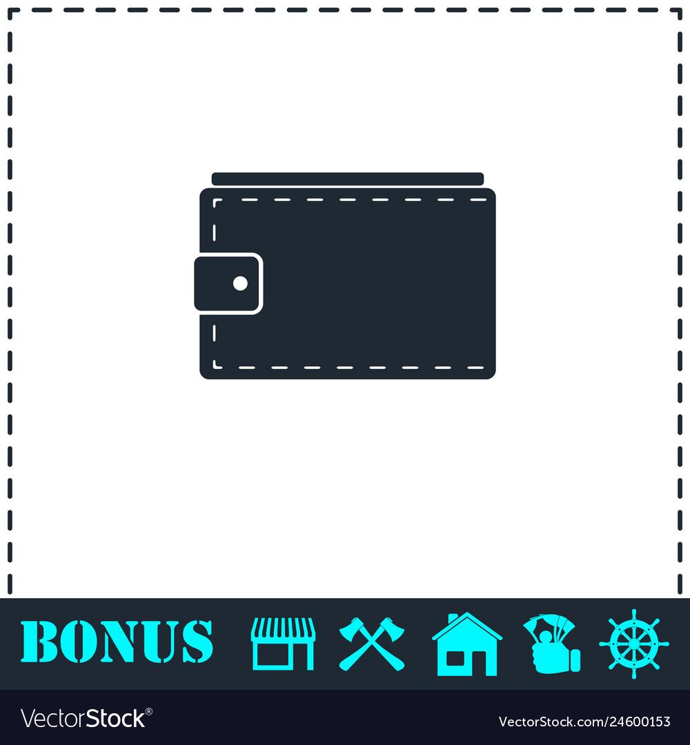 Purse icon flat