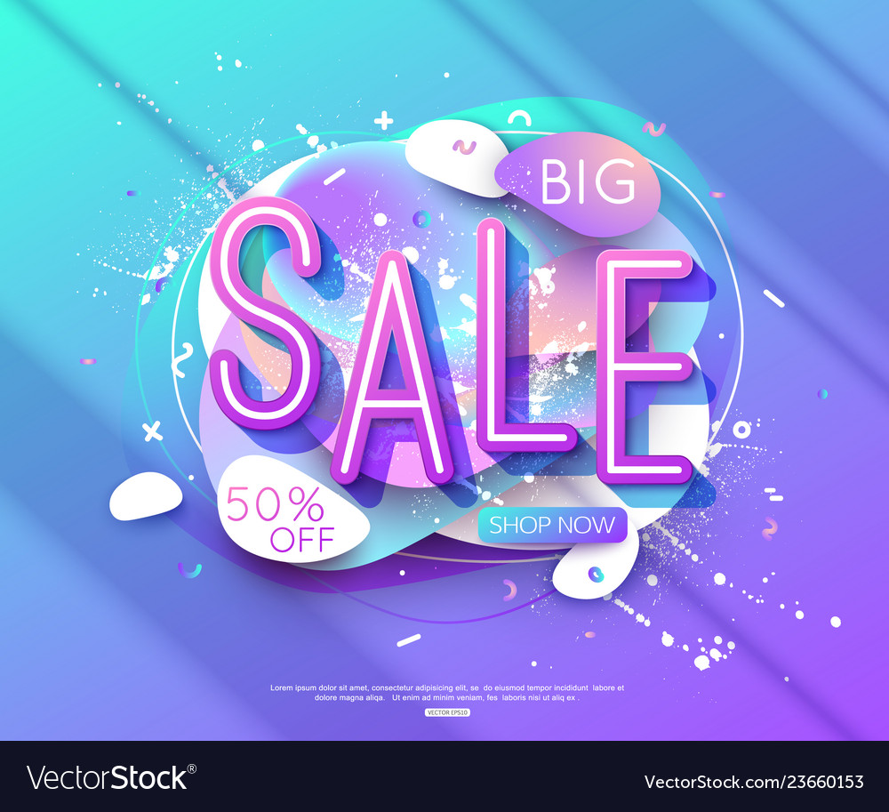 Sale banner layout design for online