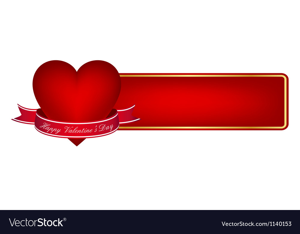 valentines day banner royalty free vector image