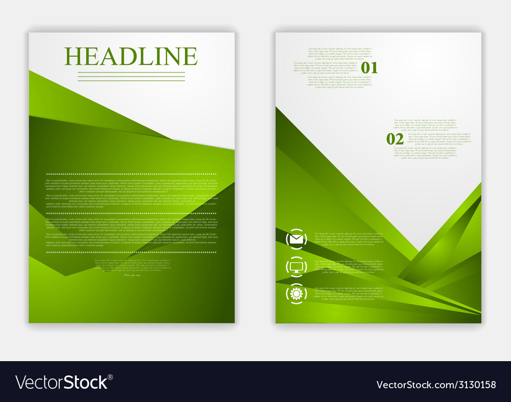 abstract green corporate tech flyer design vector image
