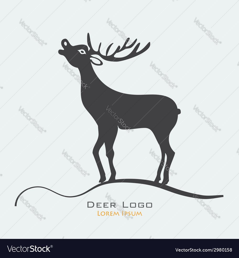 Deer label vector image