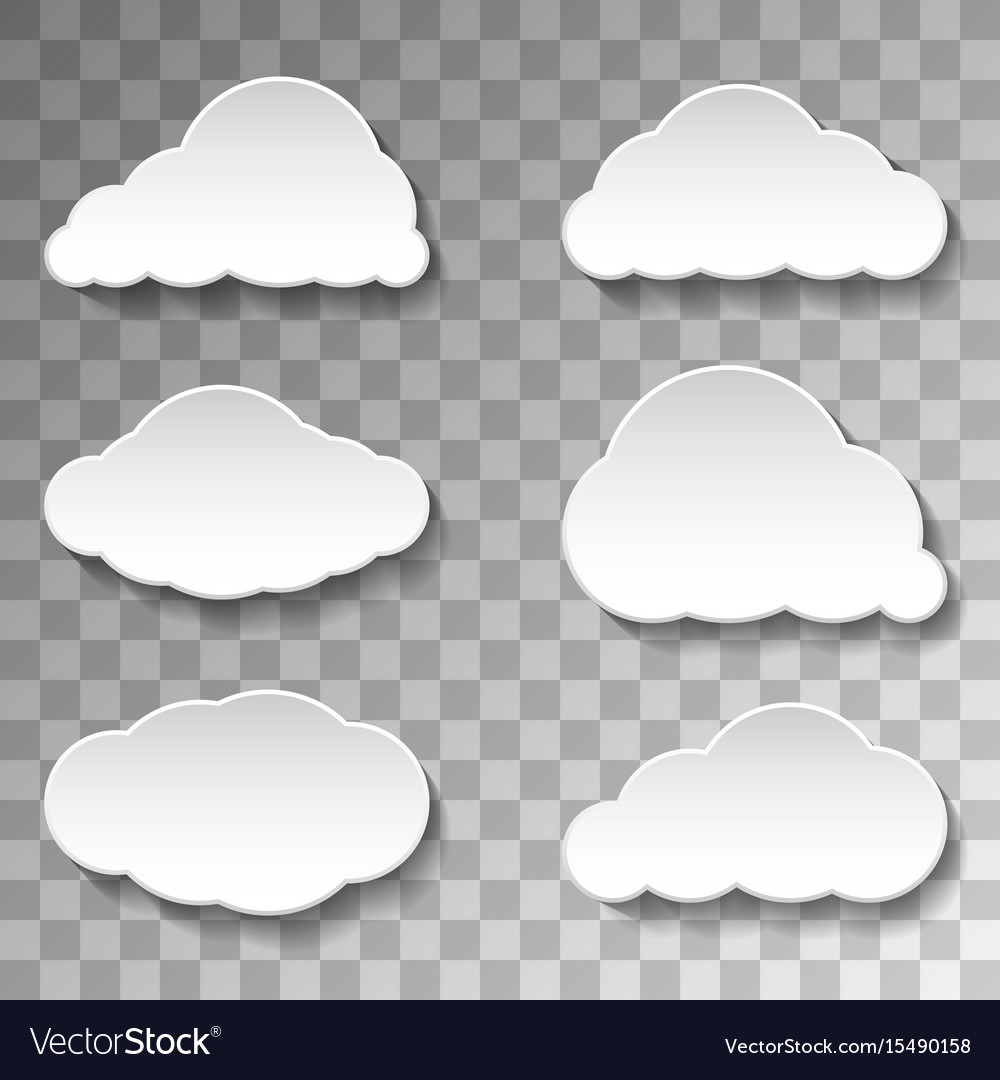 Messages clouds icon on transparent background