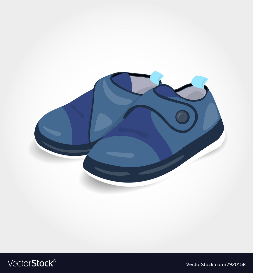 Realistic blue baby shoes for a boy