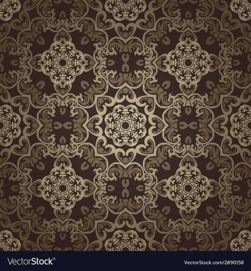 Seamless Wallpaper Islamic Motif Background Vector Image