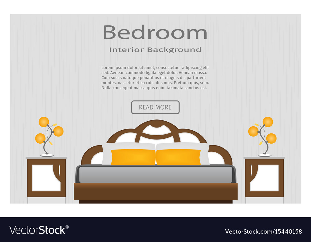Web banner of elegance bedroom interior with