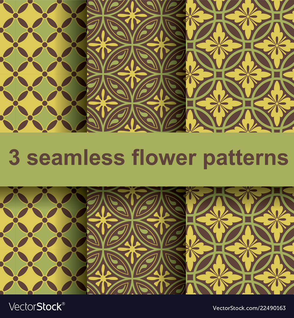 3 flower patterns