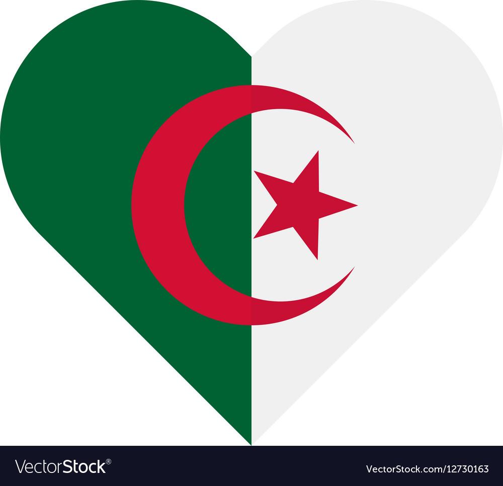 Algeria flat heart flag