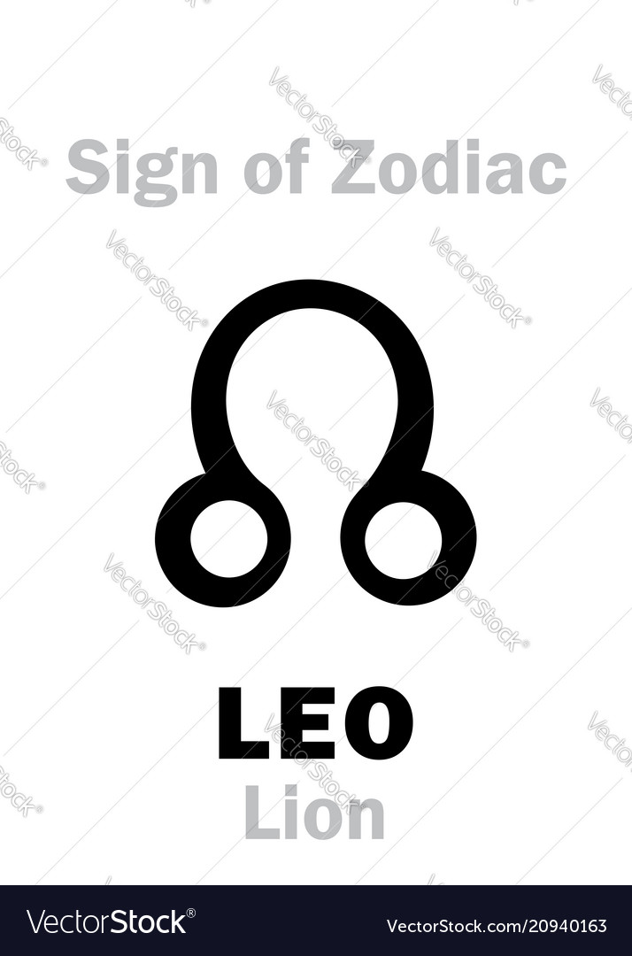 Astrology Sign Of Zodiac Leo The Lion Royalty Free Vector