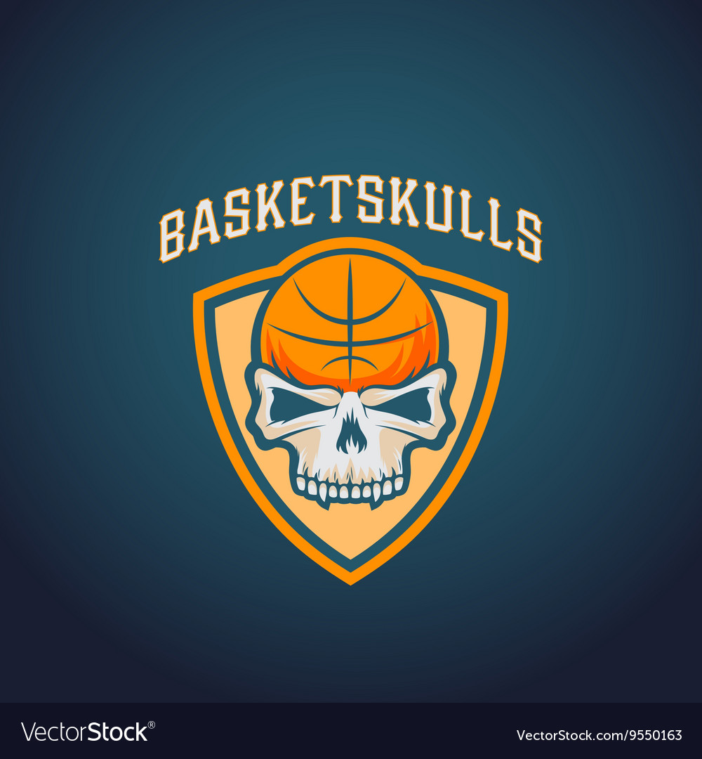 Basket Skulls Abstract Basketball Logo