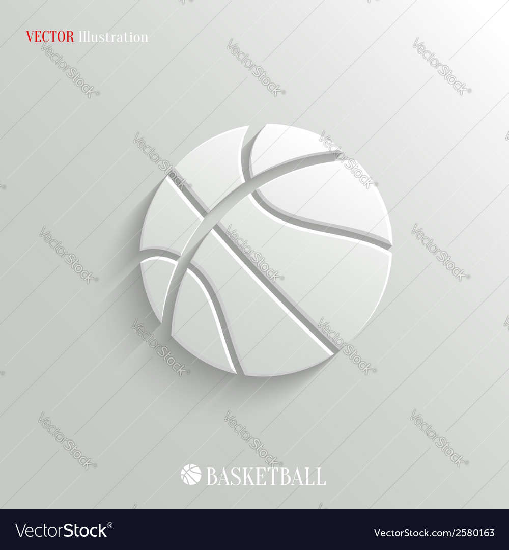 Basketball icon - white app button