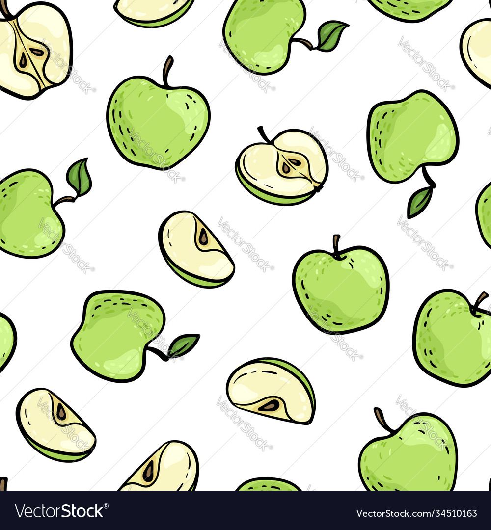 Beautiful seamless doodle pattern with cute