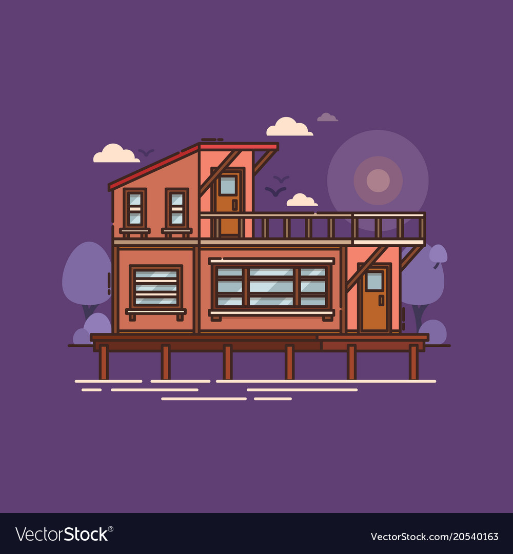 House or building home construction on water