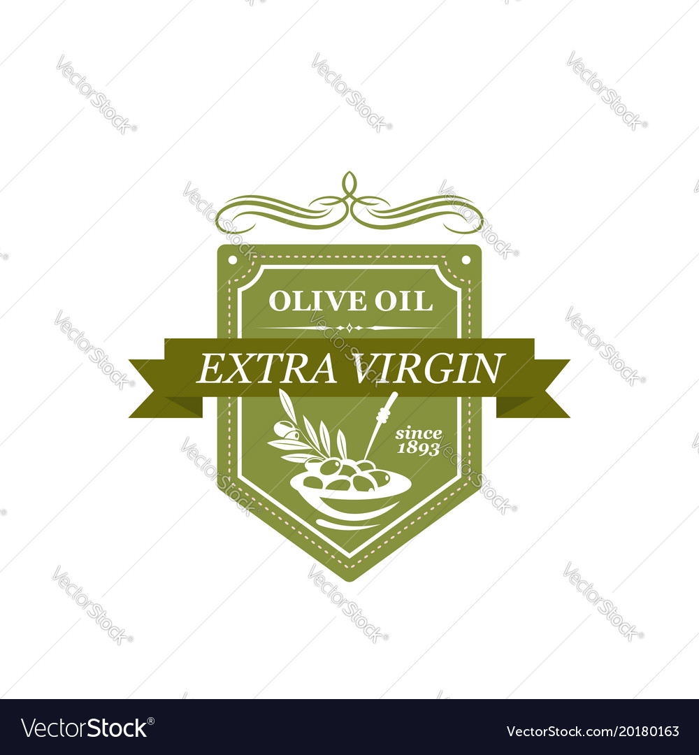 Icon with symbol of olives