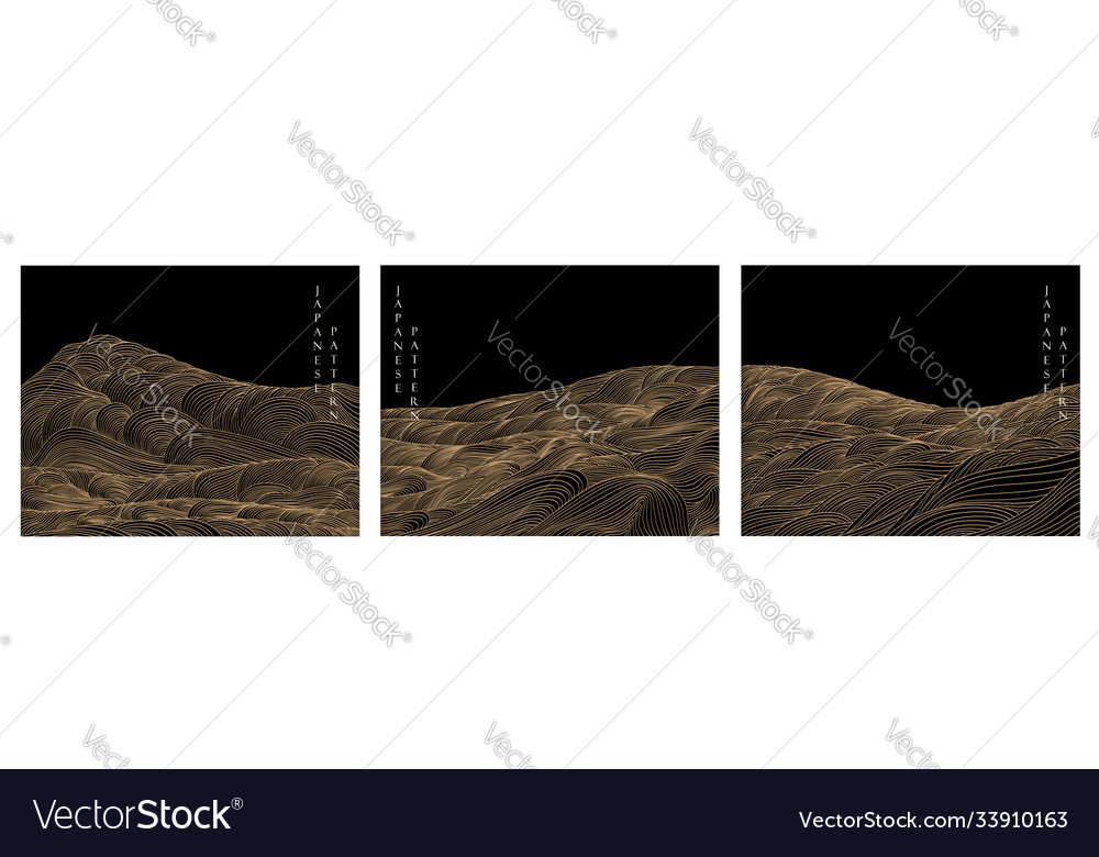 Japanese background with line wave pattern