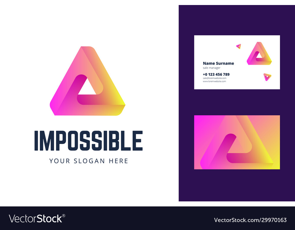 Logo and business card template with an impossible