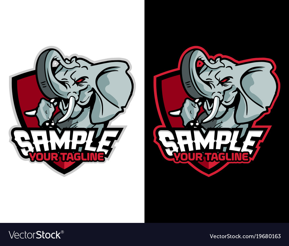 Modern animal mascot for esport logo and t shirt vector image