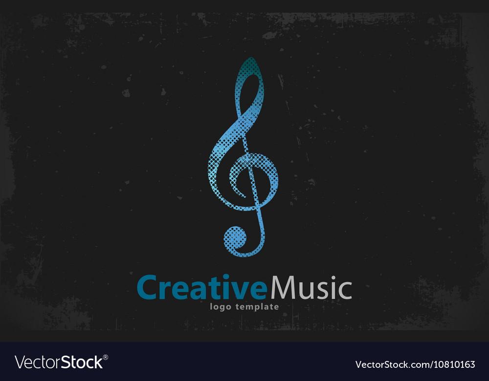 Music logo Musical key note template logo