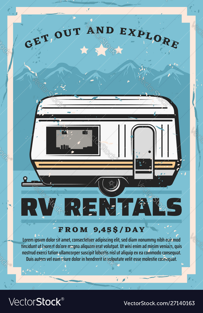 Recreational vehicle rv camper travel car rental