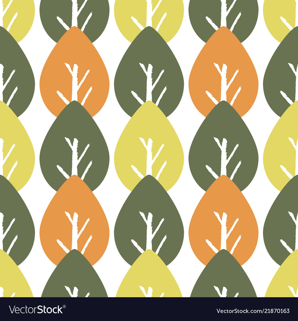 Seamless colorful foliage pattern baby leaf