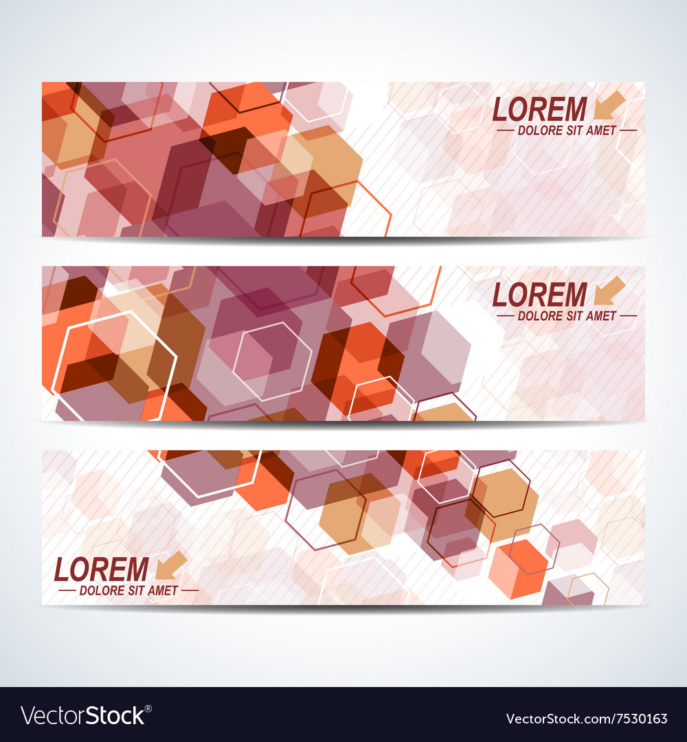 Set of the horizontal banners Background vector image