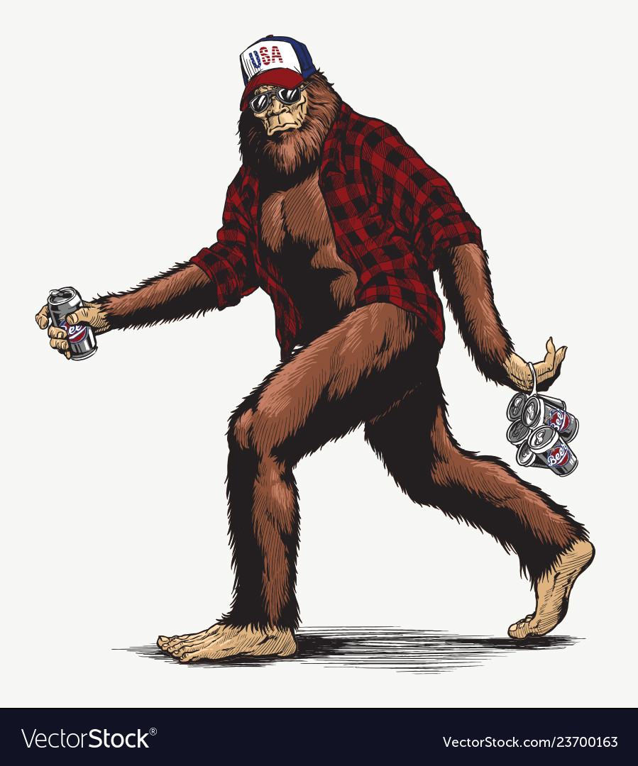 Walking usa american hillbilly sasquatch