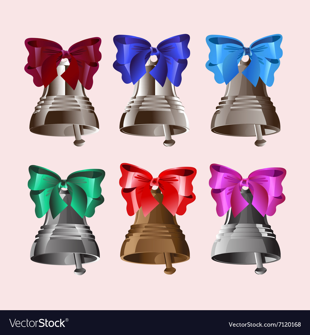 6 bells with bows