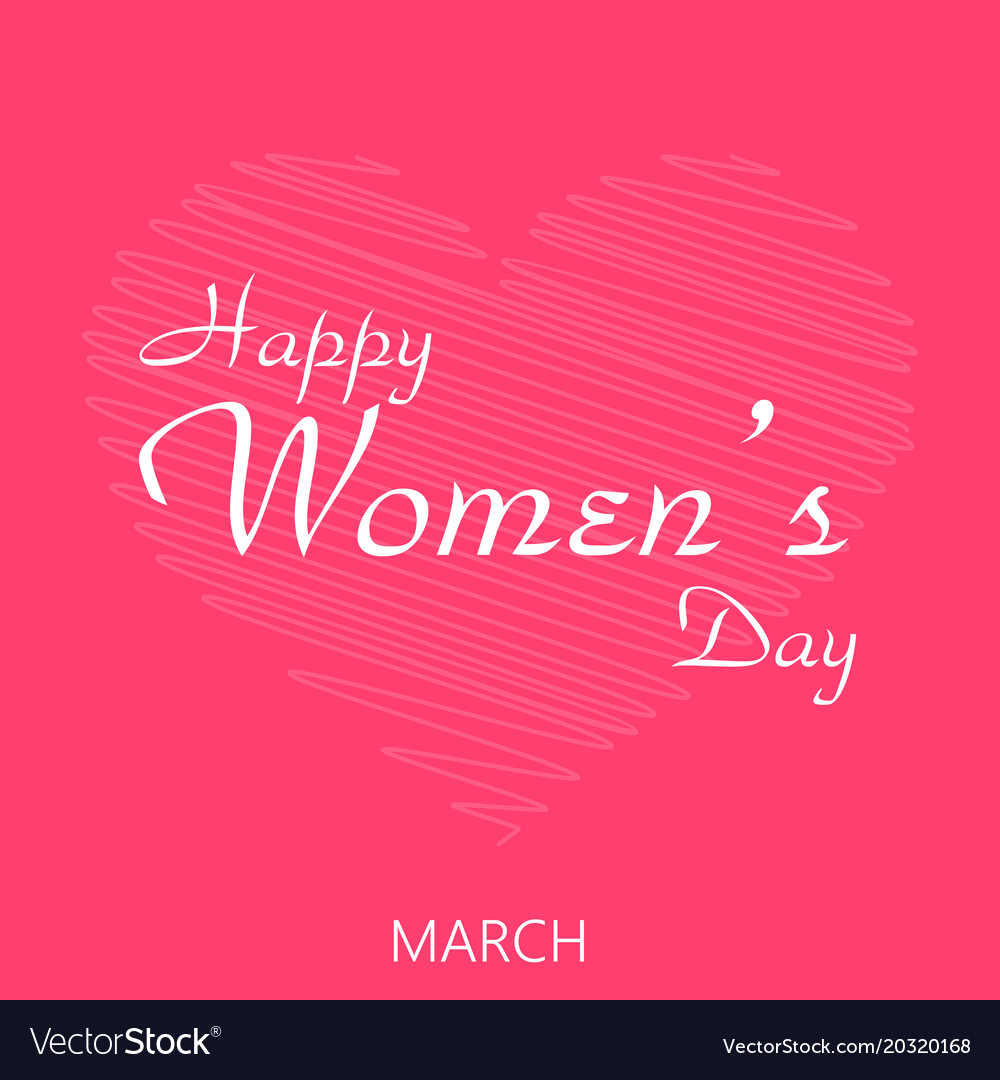 8 march happy womens day greeting card