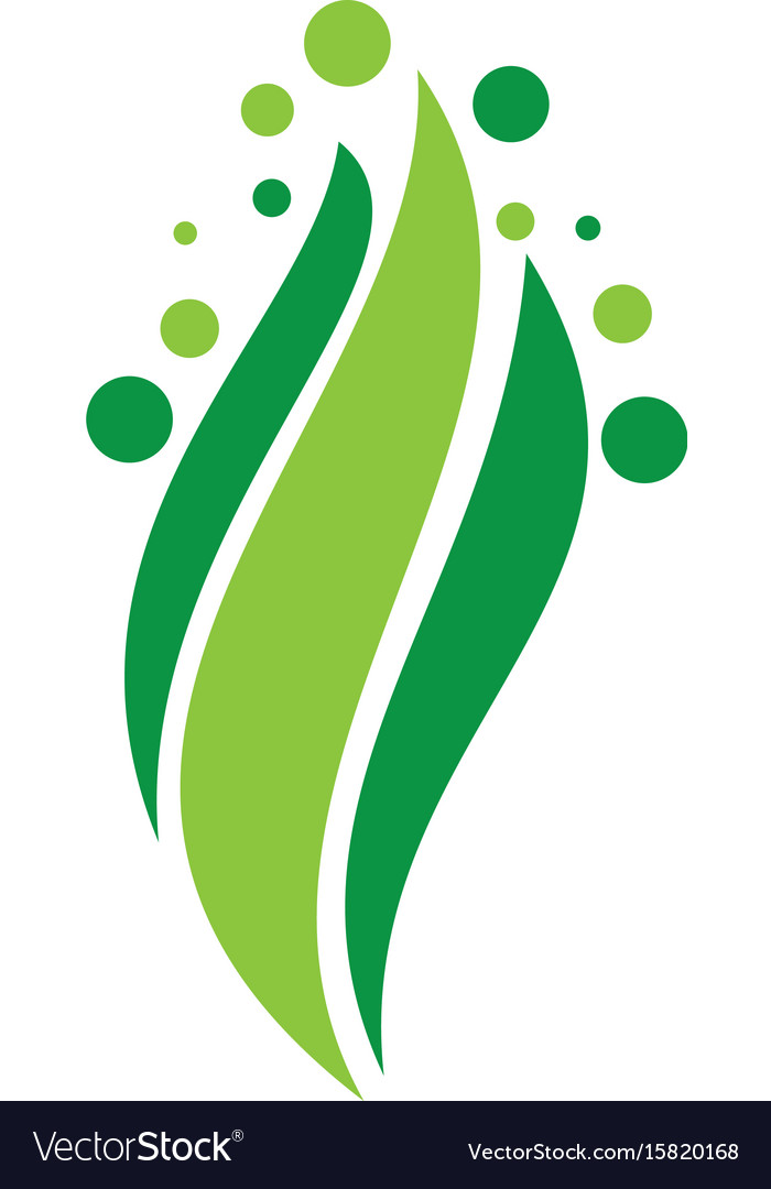 Abstract leaf swirl logo vector image