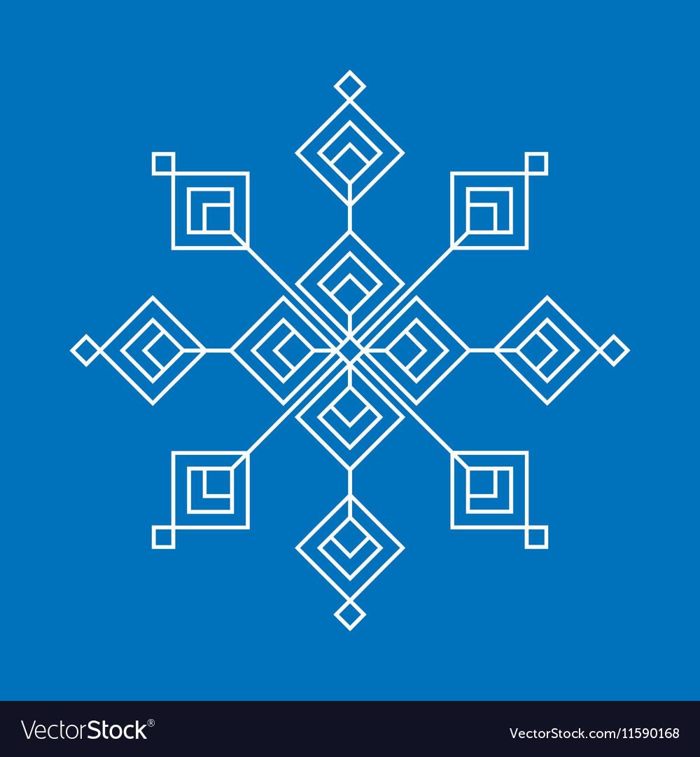 Christmas and winter - White snowflake icon vector image