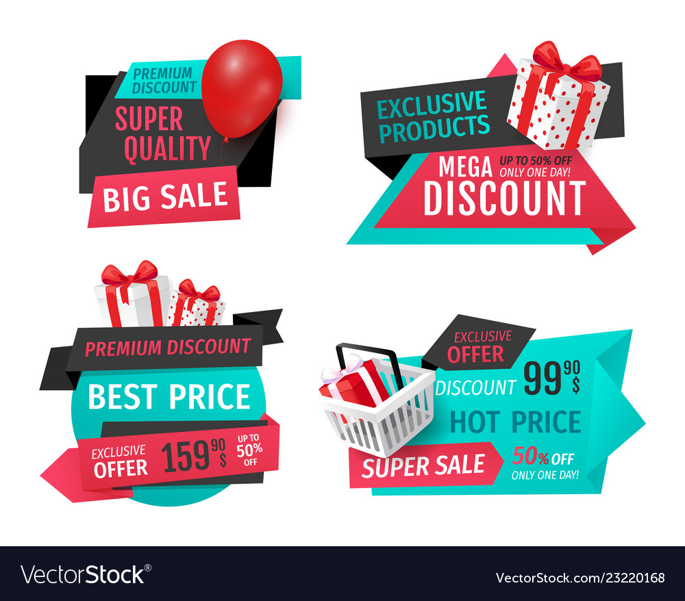 Discount labels with promo prices templates