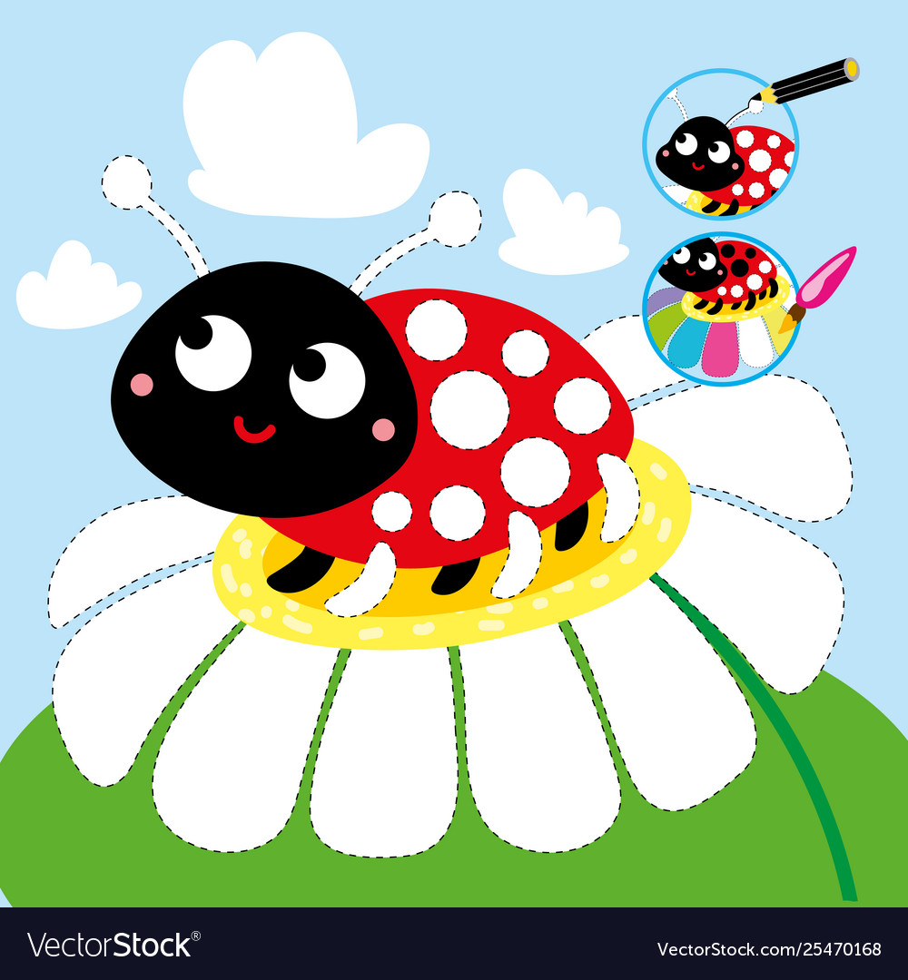 image about Printable Ladybug identified as Drawing cartoon video game guideline ladybug printable