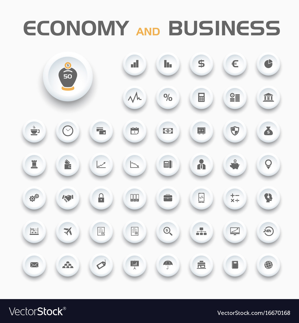 Economy and business icons set