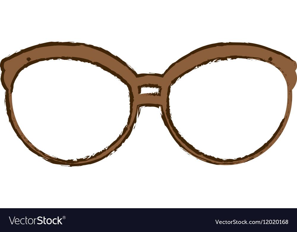 Glasses vintage frame icon image