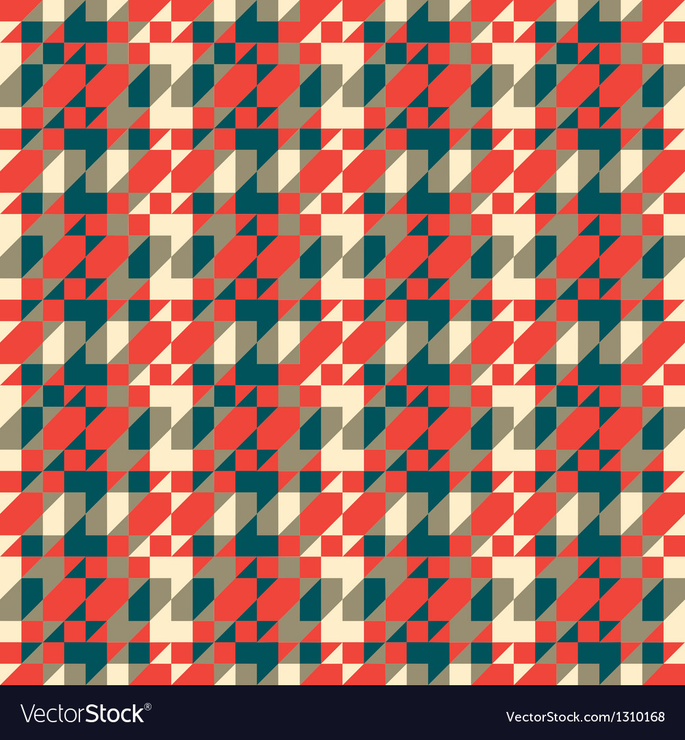 Pixelated textured ornament vector image