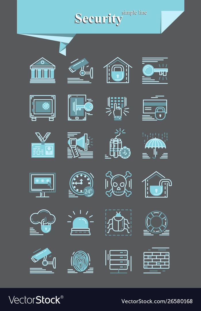 Security iconsignsymbol pictograph