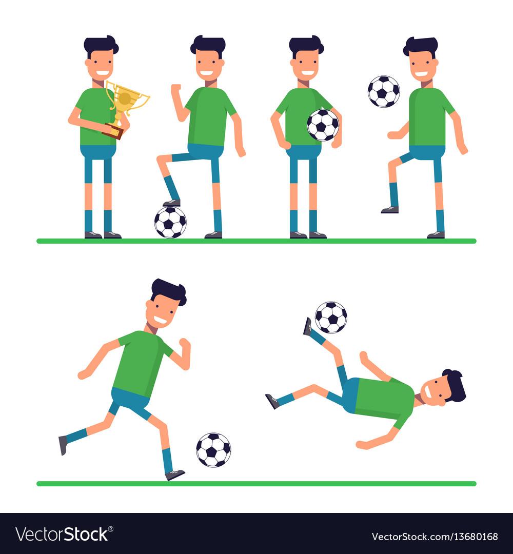 Soccer sport athletes football goalkeeper playing vector image