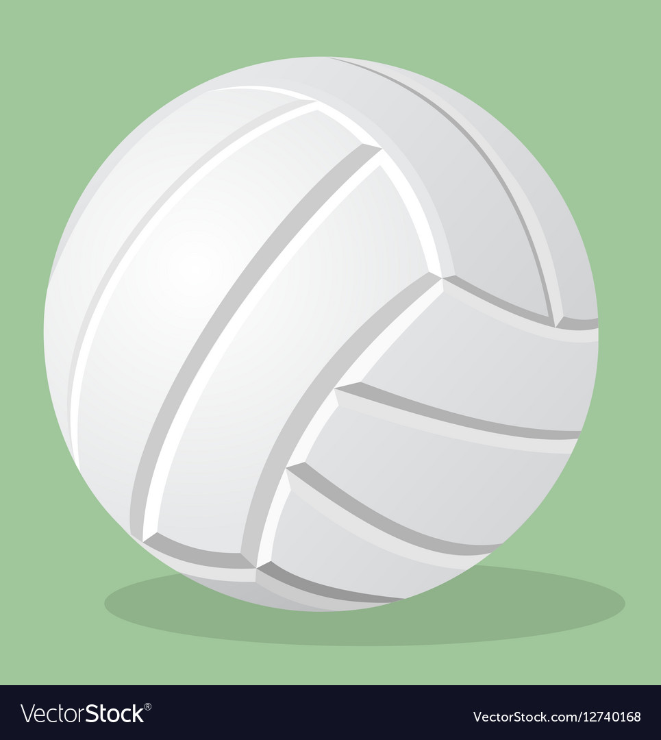 Volleyball white ball realistic
