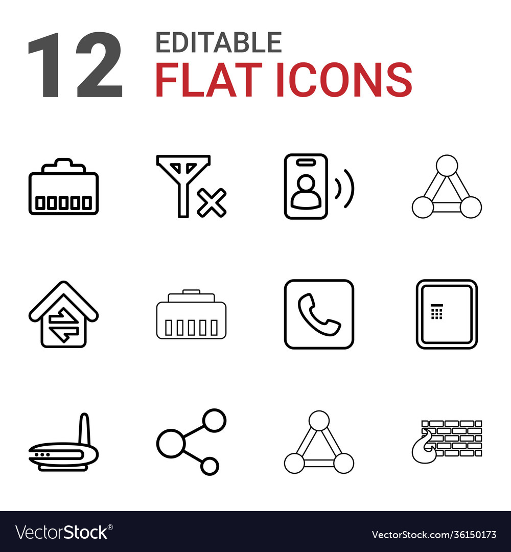 12 connection icons