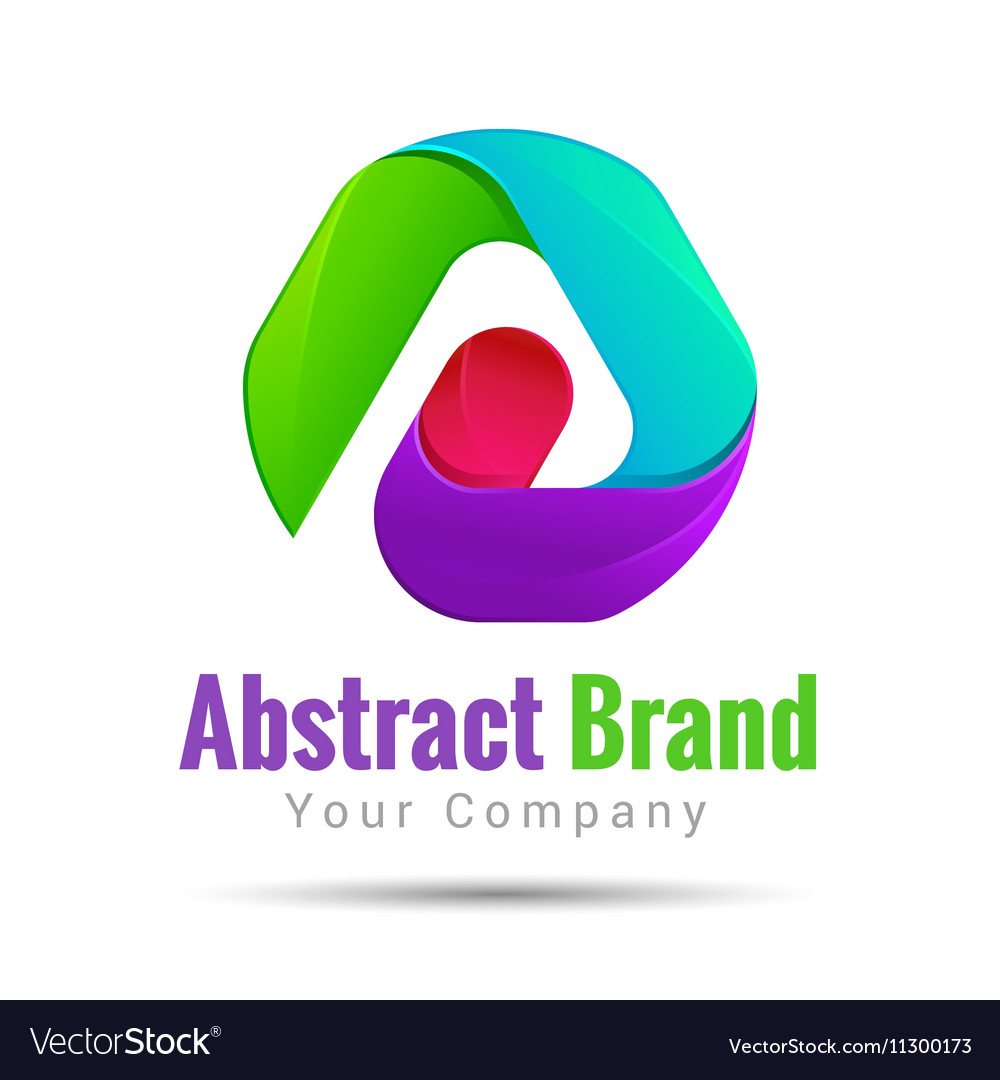 Abstract logo corporate icon design set Isolated