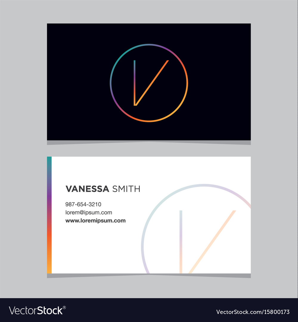 Business-card-letter-v