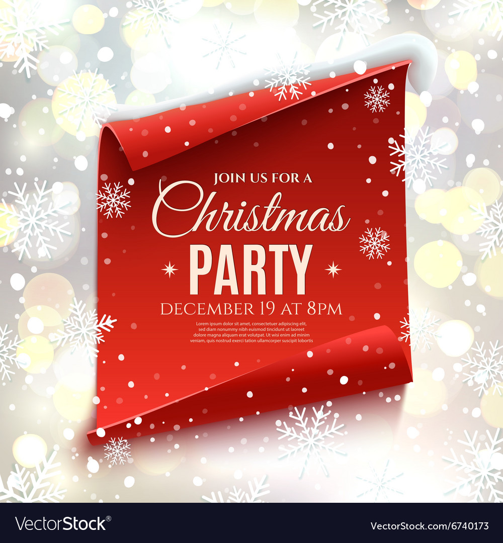 Christmas party invitation Royalty Free Vector Image