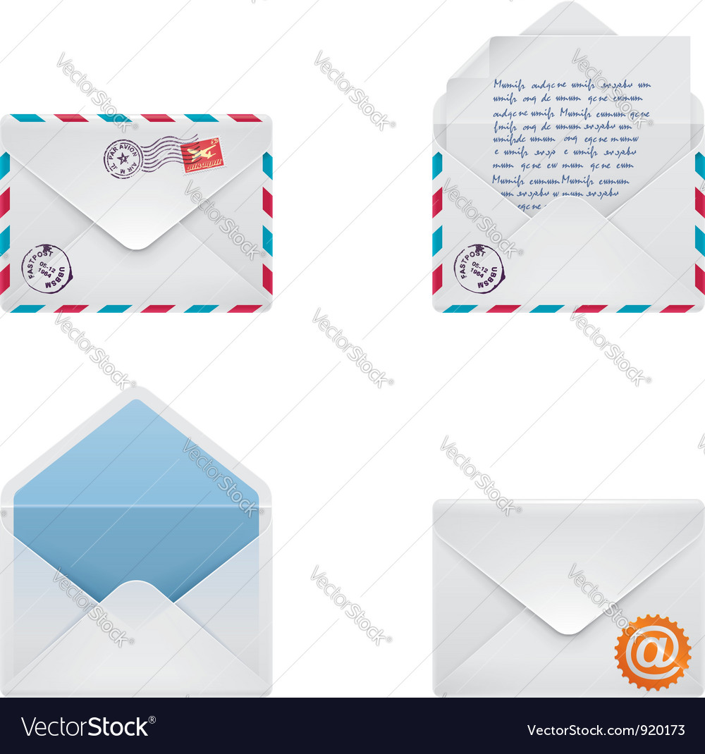 Envelope icon set