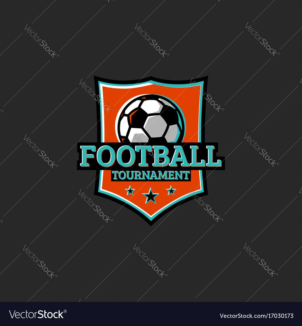 Football tournament club or league sticker sport