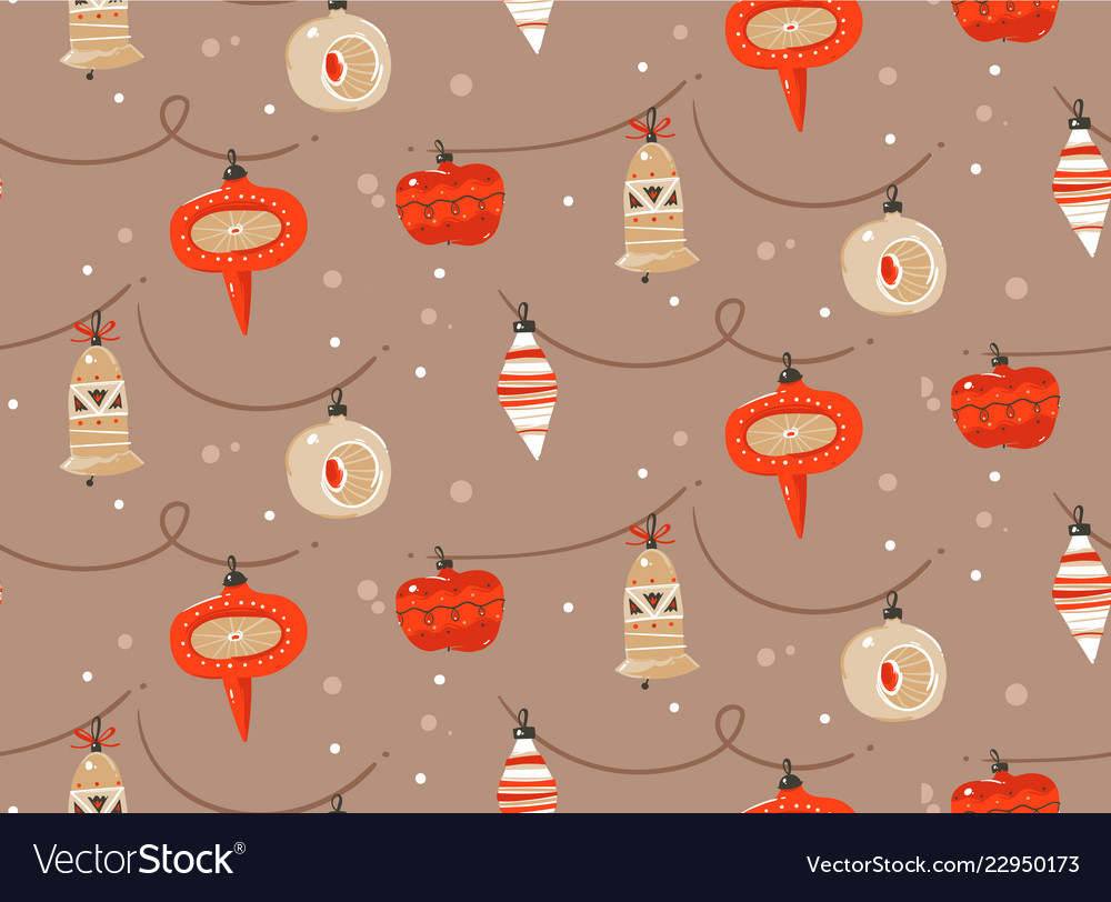 Hand drawn abstract fun merry christmas and