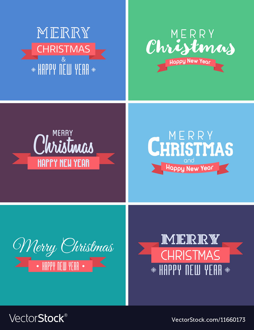 Merry Christmas and New Year Cards