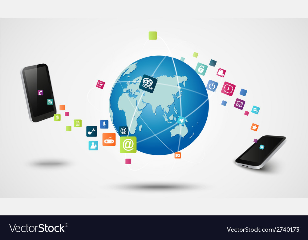 Modern connection technology concept vector image
