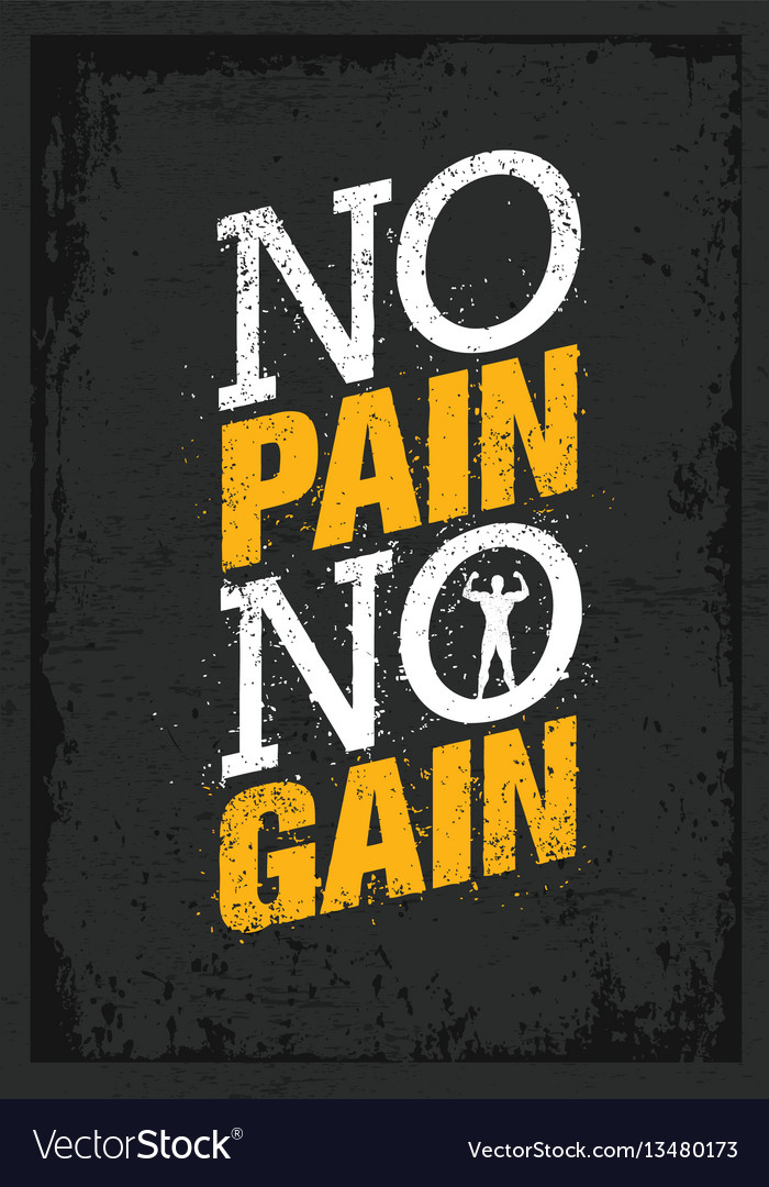 No Pain No Gain Workout And Fitness Motivation