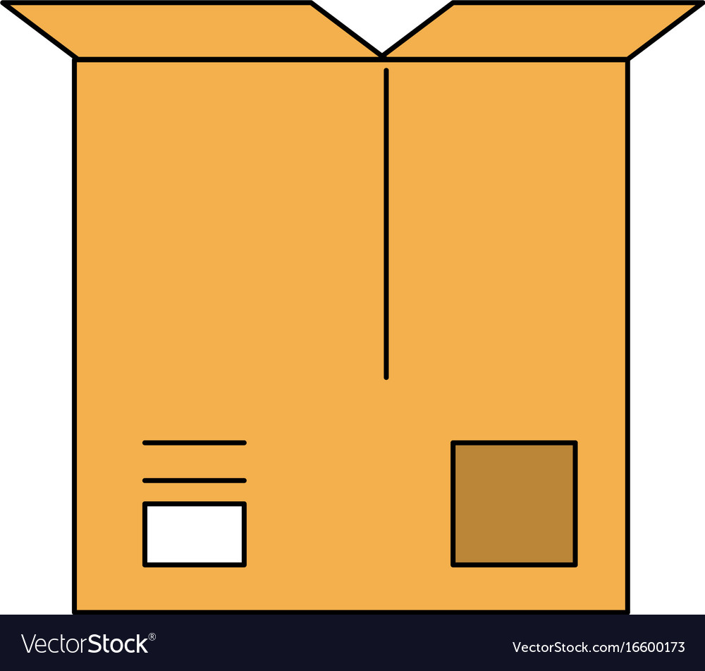 Open cardboard box icon image
