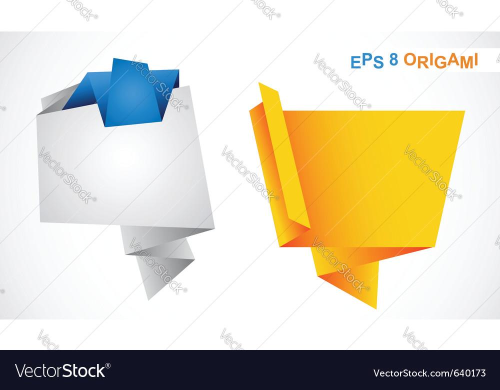 Origami bubbles