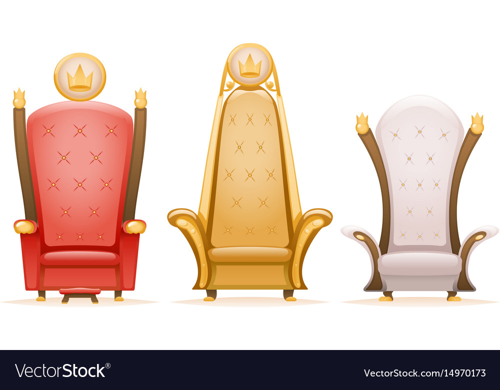Royal throne king ruler fairytale armchair cartoon